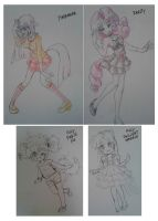 Very Old Anthro Pony Drawings by thegreatrouge
