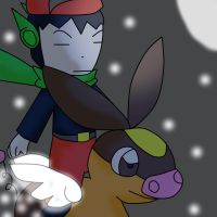 Request:Quote and The Flying Tepig by HappyShaymin