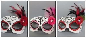 Day of the Dead masquerade masks by maskedzone