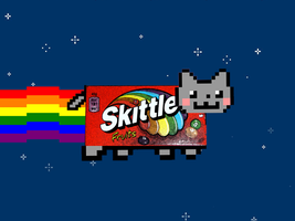 Skittles Cat by engineerJR