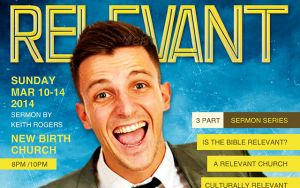 Relevant Church Magazine Flyer Template by loswl
