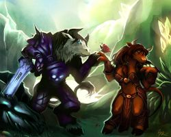 Commission: Tauren love by Altana