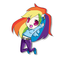 Chibi Rainbow Dash by rhamana