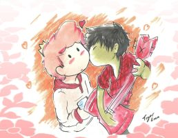 Marshall lee x Dulce principe by TigerLion-moikana