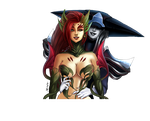 League of Legends - Zyra x Lissandra [Commission] by kapiheartlilly