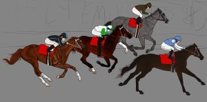 Melbourne Cup WIP by fulociraptor