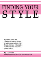 Finding Your Style Booklet by Tylon