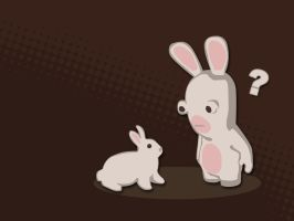 Rabbid vs. Rabbit by bschulze