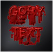 Gory Text Effect by cazcastalla