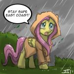 Fluttershy's Msg to East Coast by johnjoseco