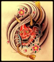 Hannya mask water by 76Bev