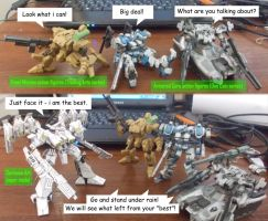 Action figures story - Who the best? by Sermann
