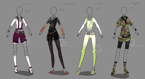 Some Outfit Adopts - sold by Nahemii-san