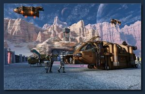 Busy Activity On Nussaen Base NN01 by neanderdigital