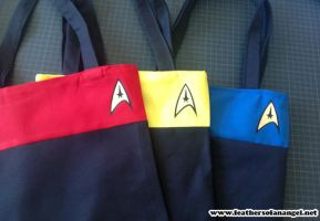Star Trek Tote bags by SongThread