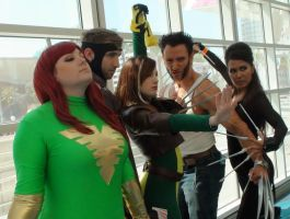 Phoenix, Gambit, Rogue, Wolverine, and Deathstrike by trivto