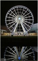 Liverpool Wheel at Night by AndrewNickson