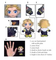 tidus 3' mini plushie by chicharon