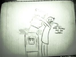 Class Doodle 2  - Water Dispensers Need Hugs too. by Kerzid