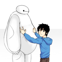 Baymax and Hiro by Boosify
