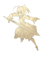 Saber Lily - Lineart by airana