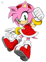 Amy Rose by Krizeii