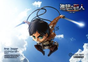 Attack On Titan Chibi Eren Jaeger by SherifNagy