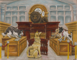 When the Dogs Go toTrial by Paz-Enai