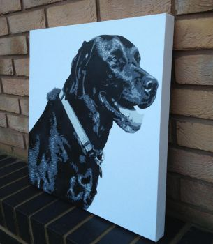 Dog Spraypainted Canvas Multilayer Stencils(Bosco) by RAMART79