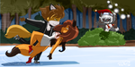 Foxes on Ice by SageStrike2