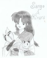 Sango And Kirara by xMomooh