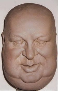 BUST,CREATING HEADS by Constantinos CC, white clay by CONSTANTINOSARTESAOS