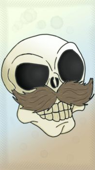 Skull Moustache by TheFuckingPuppet