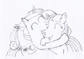 Cadence + Twilight Sparkle Sketch 2 by Flikaline