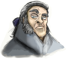 Cartoon Javert colored by Queenera