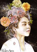 Flowerboy Xiumin by Aries85