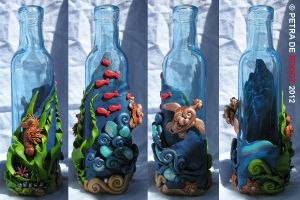 Coloured Bottle Series - Blue by spaceship505