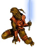 Wookiee Jedi by Halicron