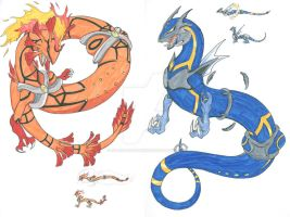 Fakemon - Sun and Moon Legendaries by Diamondsnake