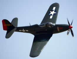 Bell P-63 Kingcobra Flyby by shelbs2