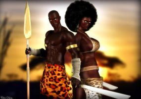 WARRIORS OF  AFRICA by yangzeninja
