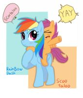 Rainbow Dash And Scootaloo by joycall3