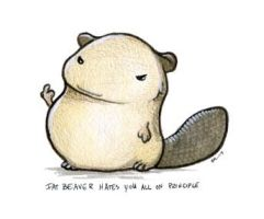 Fat Beaver Hates You All by ursulav
