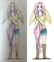 Fluttershy Drawing by BananimationOfficial