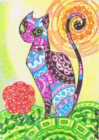Pattern cat by KingZoidLord