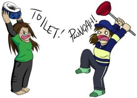 Collab - Toilet Plungah by caat