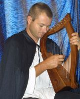 Harp player by ebell1