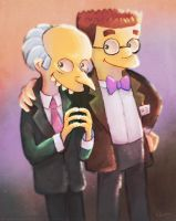 Mr. Burns and Smithers 2 by MissNeens