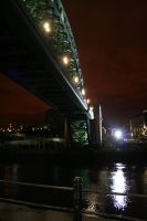 Tyne Bridge At Night by N1ghtf4ll3r