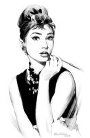 Audrey Hepburn by Lilaccu
